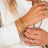 MEVECCO Gold Bracelets for Women 14K Gold Plated