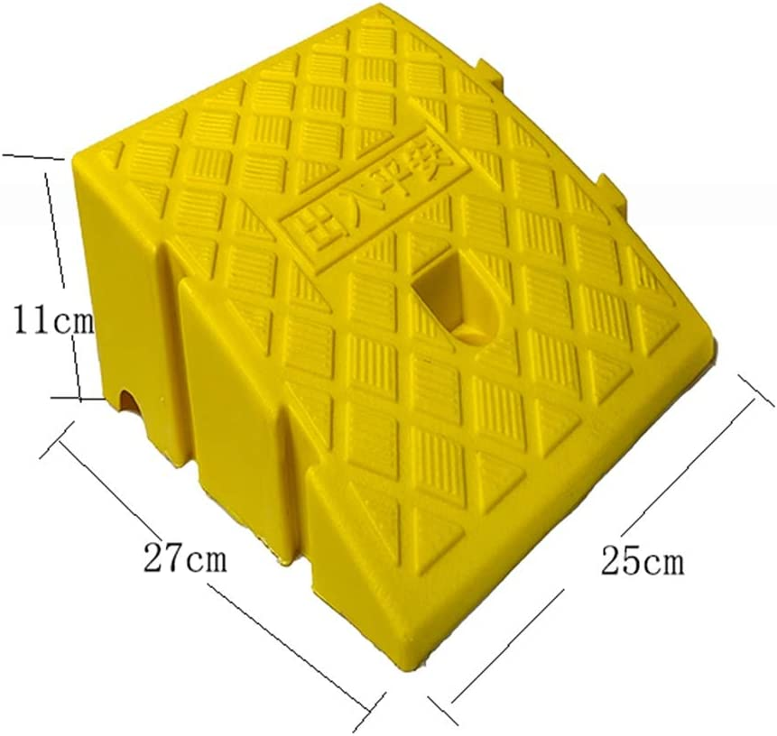 Bicycles Color Yellow Ramp Portable Lightweight Plastic Ramp Cars Color : Yellow, Size : 7cm Motorcycles Car Curb Ramp Suitable for Thresholds