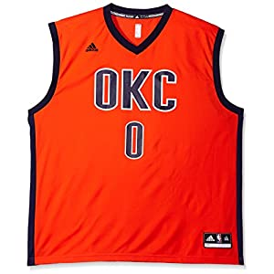 NBA Men's Oklahoma City Thunder Russell Westbrook Replica Player Alternate Flex Jersey, 4X-Large, Red