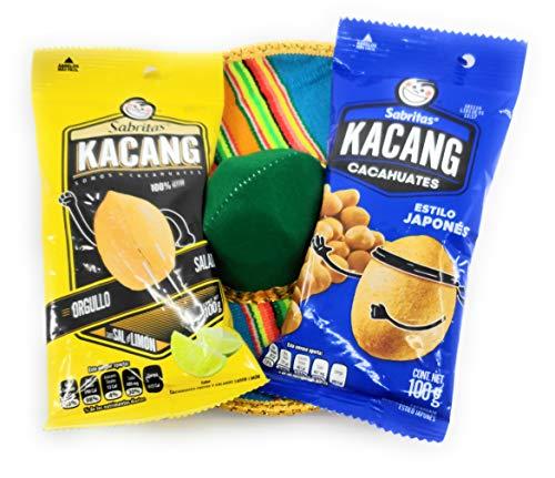 Sabritas Kacang Cacahuates Mexican Peanuts and Tesadorz Sombrero Gift Set (Original, Sal y Limon) ()