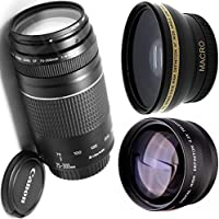 Canon 75-300mm III Zoom Lens + High Definition Wide Angle Auxiliary Lens + High Definition Telephoto Auxiliary Lens