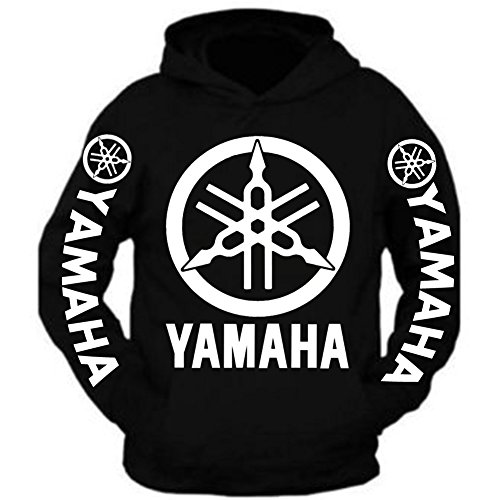 Special Edition Yamaha Racing Hooded Sweatshirt Black (2XL, WHITE) (Sweatshirt Yamaha Hoody)
