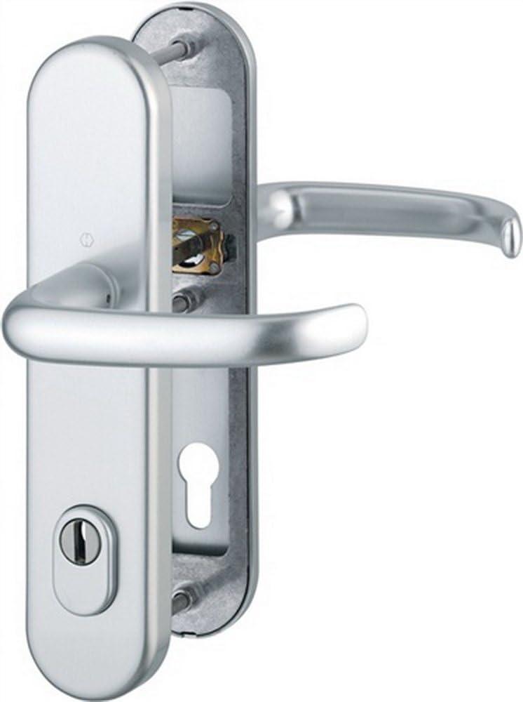 Hoppe Schutz-Dr/ückergarnitur San Francisco 1301//3332ZA//3310 PZ ZA VK 10mm Entf 92mm