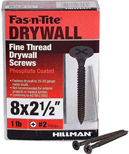 1-lb Fas-n-Tite #8 x 2-1//2-in Bugle Fine Thread Drywall Screws