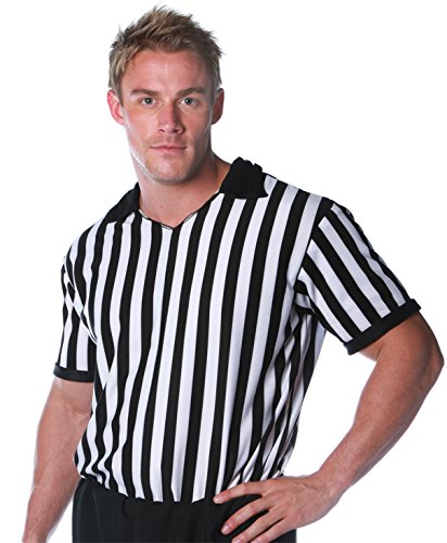 (Underwraps Costumes Men's Referee Costume - Shirt, Black/White,)