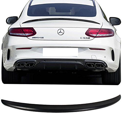 Trunk Spoiler Fits 2015-2017 Mercedes Benz C-Class C205 | AMG Style ABS Rear Tail Lip Deck Boot Wing Other Color Available By IKON MOTORSPORTS | 2016