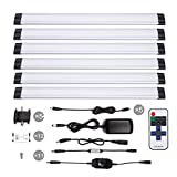 S&G 4000K(Neutral White) Dimmable LED Under Cabinet Light Ultra Thin Under Counter Lighting 6pcs Panel Lights Included And Fixed With 3M Sticker Remote Control Buget-friendly