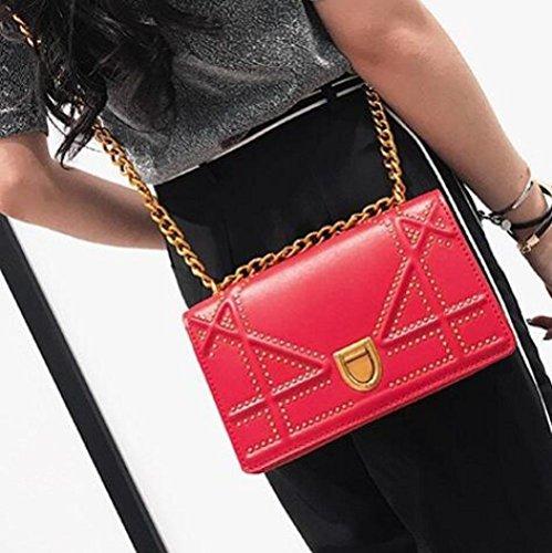 Wlfhm Da Catena Tracolla Mini Borse A Piccole Red Donna Coreane BgqrB6