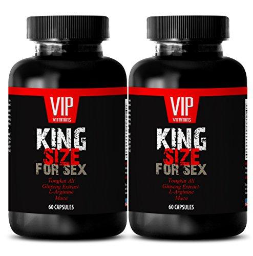 Men enhancement pills bigger harder - KING SIZE FOR SEX - Arginine tribulus - 2 Bottles 120 Capsules