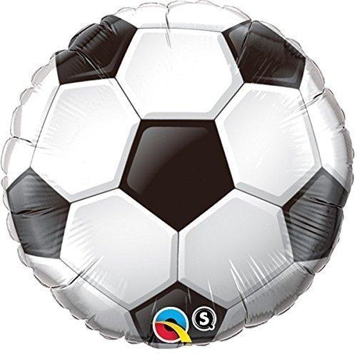 Qualatex Black & White Soccer/Football Shaped 36 Inch Foil Balloon by Qualatex