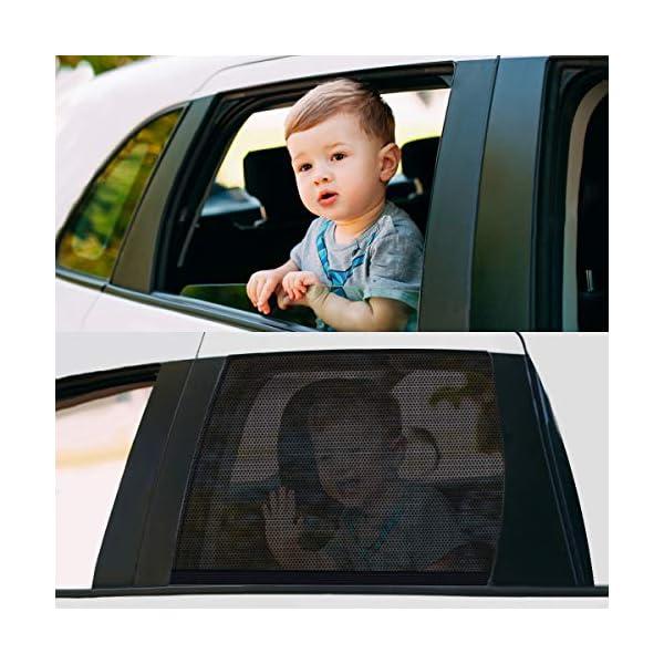 WEARXI Tendine Parasole Auto Bambini - 2 Pezzi Parasole Auto Bambini, Parasole Finestrino Auto Pellicola Oscuramento… 7 spesavip