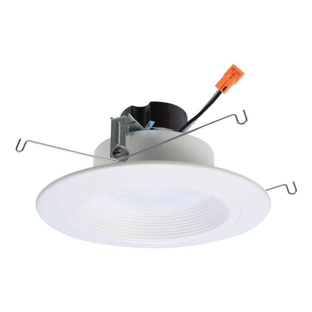 Halo 90CRI LED Recessed Retrofit RL Light with Baffle Trim, 5/6-Inch, 900 Lumens, Soft White