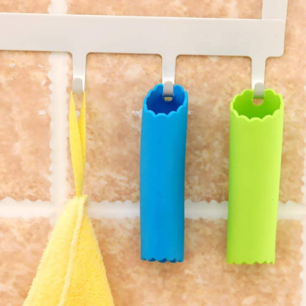 4 PACK Silicone Garlic Roller Peeling Tube Tool Useful Odor-free Kitchen Tool Blue and Green VISMERA Silicone Garlic Peeler Easy Garlic Roller Tube