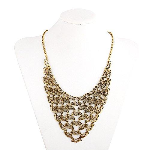 Fashion Retro Style Mesh Charm Necklace Collar Bib for Women