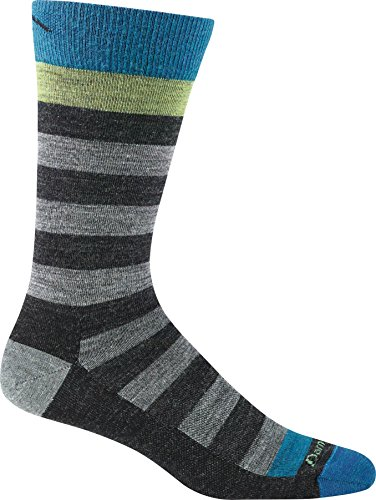 Darn Tough Vermont Men's Warlock Crew Light Cushion Hiking Socks, Charcoal/Gray, Large