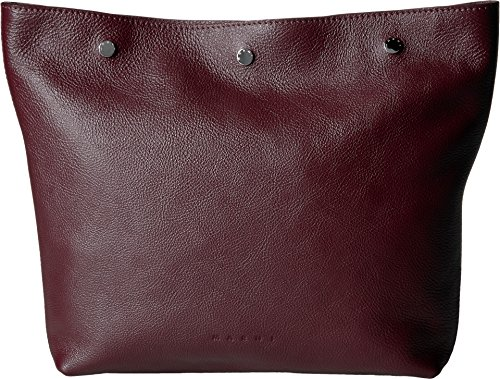 MARNI Men's Leather Pouch Burgundy by Marni