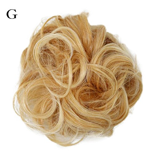 G Unit Costume (Iuhan Women's Curly Messy Bun Hair Twirl Piece Scrunchie Wigs Extensions Hairdressing)