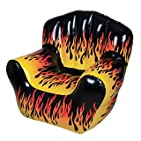 "40"" X 30"" FLAME PRINT CHAIR INFLATE"