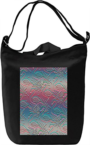 Flamingos Pattern Borsa Giornaliera Canvas Canvas Day Bag| 100% Premium Cotton Canvas| DTG Printing|