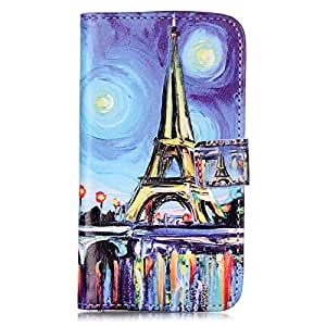 LG K8 Case, OYYC [Eiffel Tower] [Kickstand Feature] Luxury Wallet PU Leather Folio Wallet Flip Case Cover Built-in Card Slots for LG K8 (2016)
