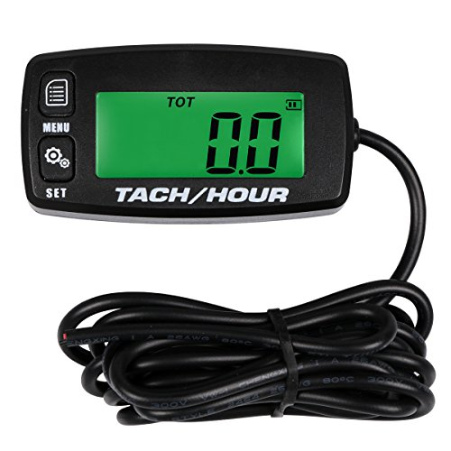 SEARON Backlit Tach Maintenance Hour Meter Tachometer for for RC Toys PWC ATV Motorcycles Marine Engines Chain Saws Tractors -
