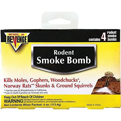 Revenge Rodent Smoke Bombs (8-pack) Kills Rats Moles Skunks Gophers Woodchucks Not Sale To: CA, AK by Revenge