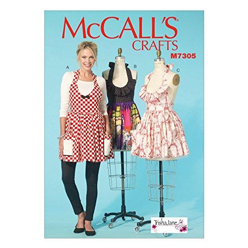 Pattern Aprons Misses (McCall's Patterns M7305 Misses' Aprons, Size Miss)