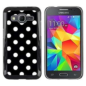 Paccase / SLIM PC / Aliminium Casa Carcasa Funda Case Cover para - Dot Black White Punk Goth Tie - Samsung Galaxy Core Prime SM-G360