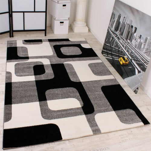 Black And White Rug Amazon Co Uk