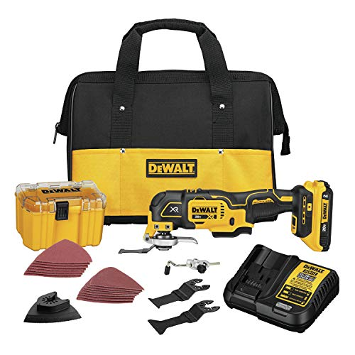 DEWALT 20V MAX XR Oscillating Multi-Tool Kit, Variable Speed (DCS356D1)