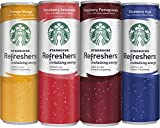 Starbucks Refreshers, 4 Flavor Variety Pack, 12 Ounce Slim Cans, 12 Pack