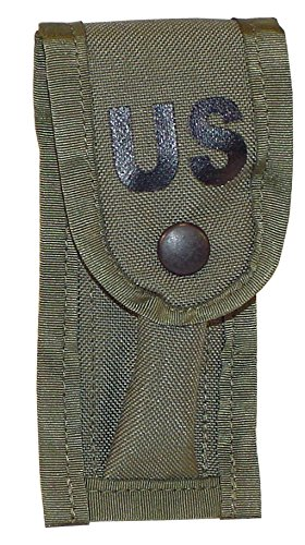 9MM Single Mag Pouch with ALICE Keepers (Camo Green) ()