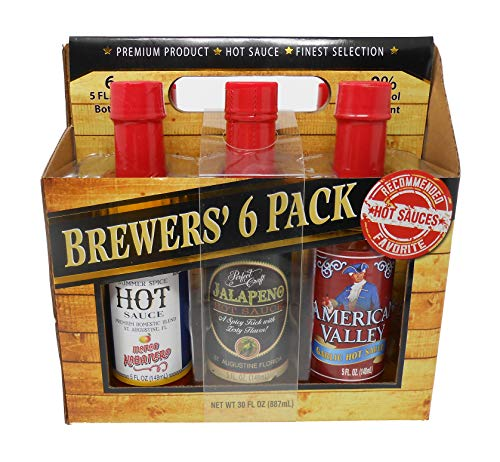 Brewers' 6-pack Hot Sauce Finest Collection 5 Ounce Bottles
