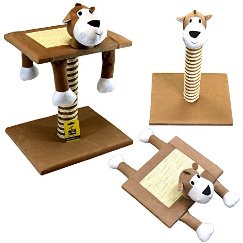 51Q2URZctYL - Deluxe Interactive Cat Scratch Sisal Poles and Exerciser for Cats or Kitty