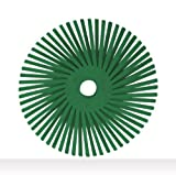 Scotch-Brite(TM) Radial Bristle Disc, Ceramic, 25000 rpm, 3 Diameter, 50 Grit, Green (Pack of 10)