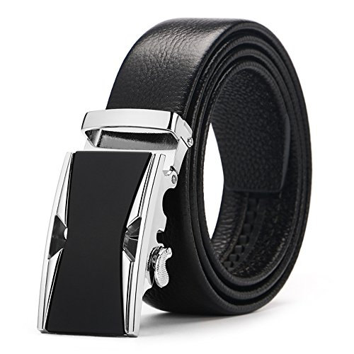 Men's belt, Iztor Genuine Leather belt with Buckle and Enclosed in Gift Box by iztor (Image #7)