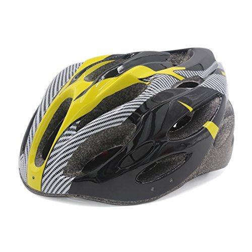 eDealMax Unisex Strada Della montagna Della bici Della bicicletta del Casco di sicurezza 56 centimetri-63 centimetri Giallo Nero