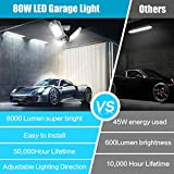 LED Garage Indoor Lights 8000 LM Flexed LED
