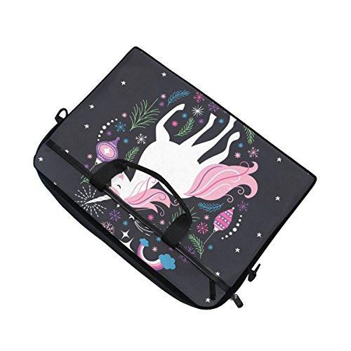 jstel hristmas Einhorn Laptop Schulter Messenger Tasche Fall Sleeve für 35,6cm zu 39,6cm mit verstellbarer Notebook Schultergurt