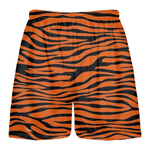 LightningWear Orange Tiger Stripe Athletic Sports Shorts - Halloween Tiger Costume XX-Large]()
