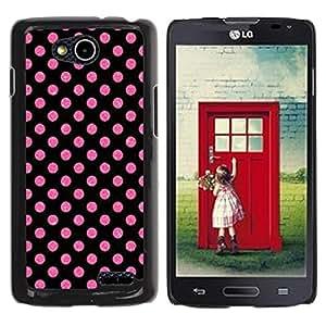 For LG OPTIMUS L90 / D415 Case , Dot Pink Purple Pattern Wallpaper - Diseño Patrón Teléfono Caso Cubierta Case Bumper Duro Protección Case Cover Funda