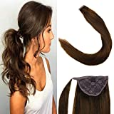 "Best Hair Extension Ponytail Real Hairs - LaaVoo 12"" Long Straight Wrap Around Ponytail Real Review"