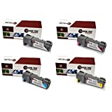 Laser Tek Services® 4 Pack Compatible Toner Cartridges for Dell 2150 2150cdn 2150cn 2155cdn 2155cn 331-0719 330-0716