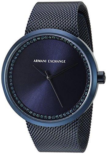 Armani Exchange Women's AX4504  Blue IP Mesh Band Watch