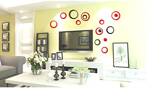 Acrylic Crystal Wall Decor: Amaonm Removable 3D Acrylic Crystal Circles Rings Dots