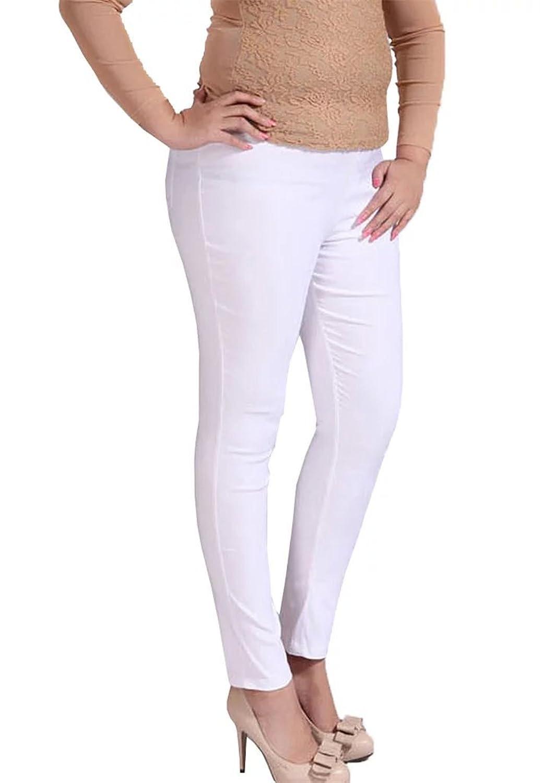 Women's Stretch Tapered Leg Pencil Tights Skinny Butt Lift Plus Size Pants