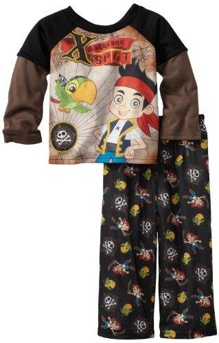 Disney Little Boys' X Marks The Spot Long Sleeve Pajama Set, Black, 2T