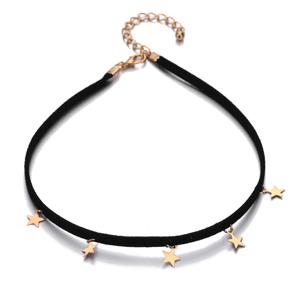CTRCHUJIAN Collares de Moda para Mujer Geometría Pentagrama ...