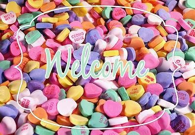 "Conversation Hearts Valentines Welcome Carpet Door Mat 18""x26"" (Personalized Conversation Hearts)"