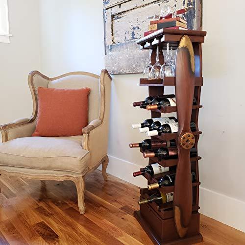(Large Wood Airplane Propeller Wine Rack)